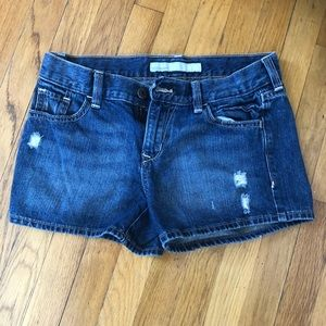 Old Navy distressed mid rise jean shorts